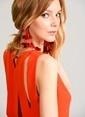 Agenda Sırt Detaylı Elbise Oranj